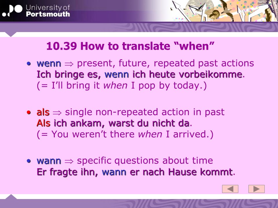 10.39 How to translate when