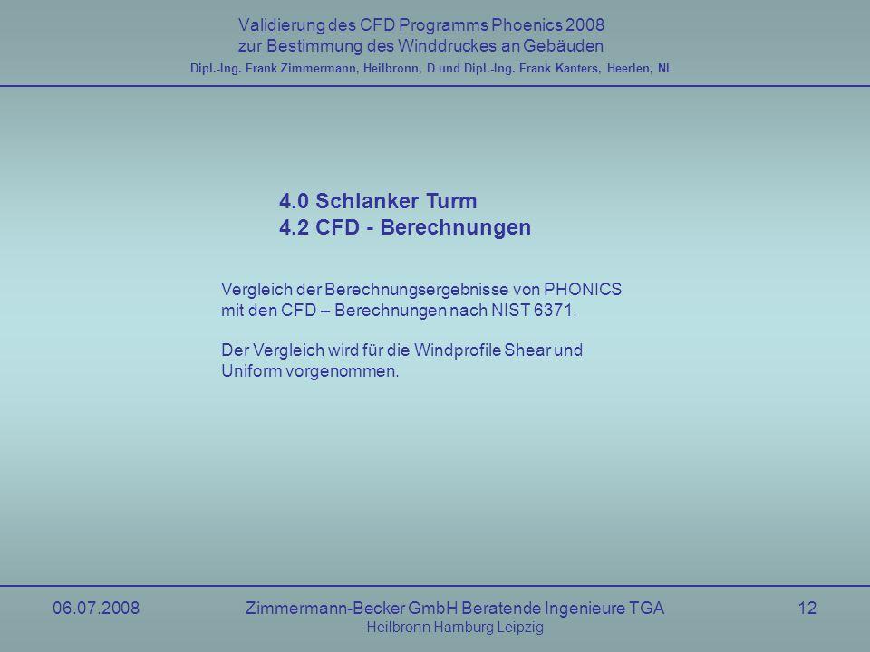 4.0 Schlanker Turm 4.2 CFD - Berechnungen