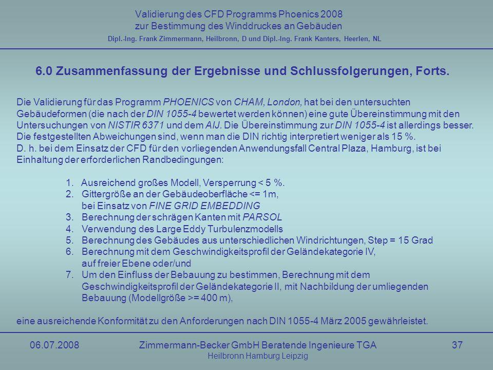 6.0 Zusammenfassung der Ergebnisse und Schlussfolgerungen, Forts.