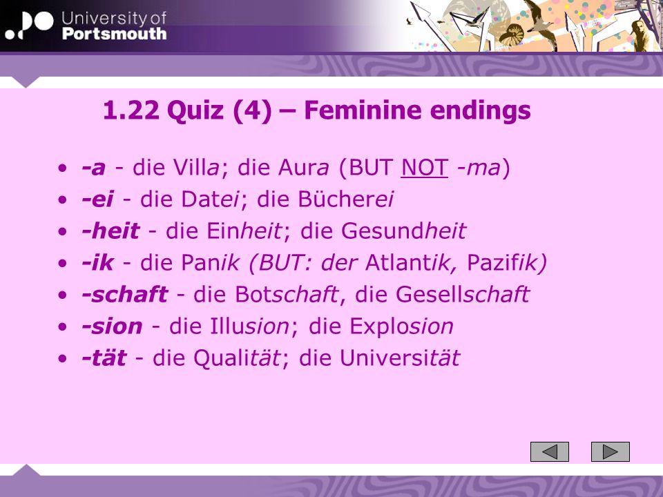 1.22 Quiz (4) – Feminine endings