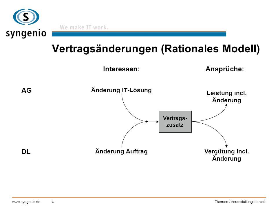 Vertragsänderungen (Rationales Modell)
