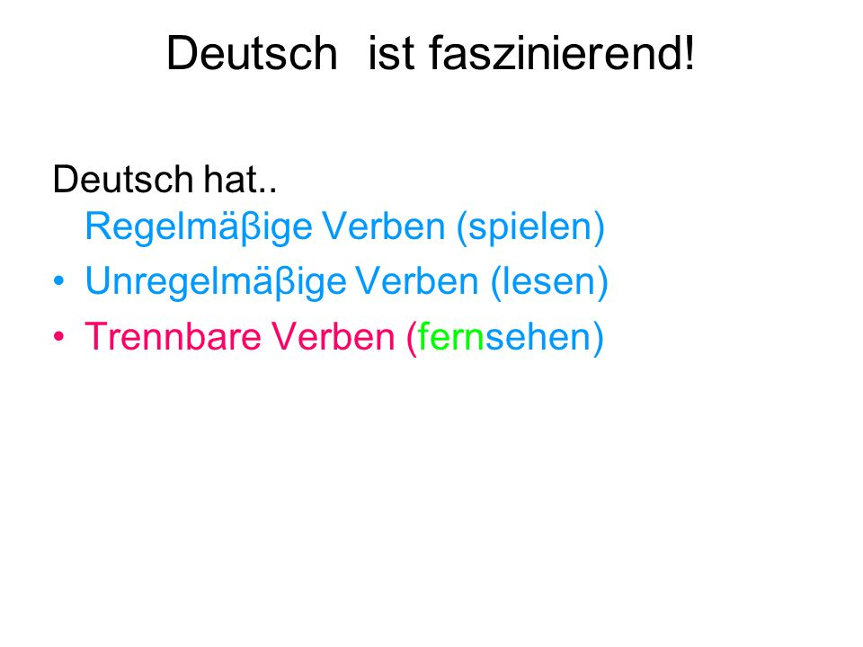 Deutsch ist faszinierend!