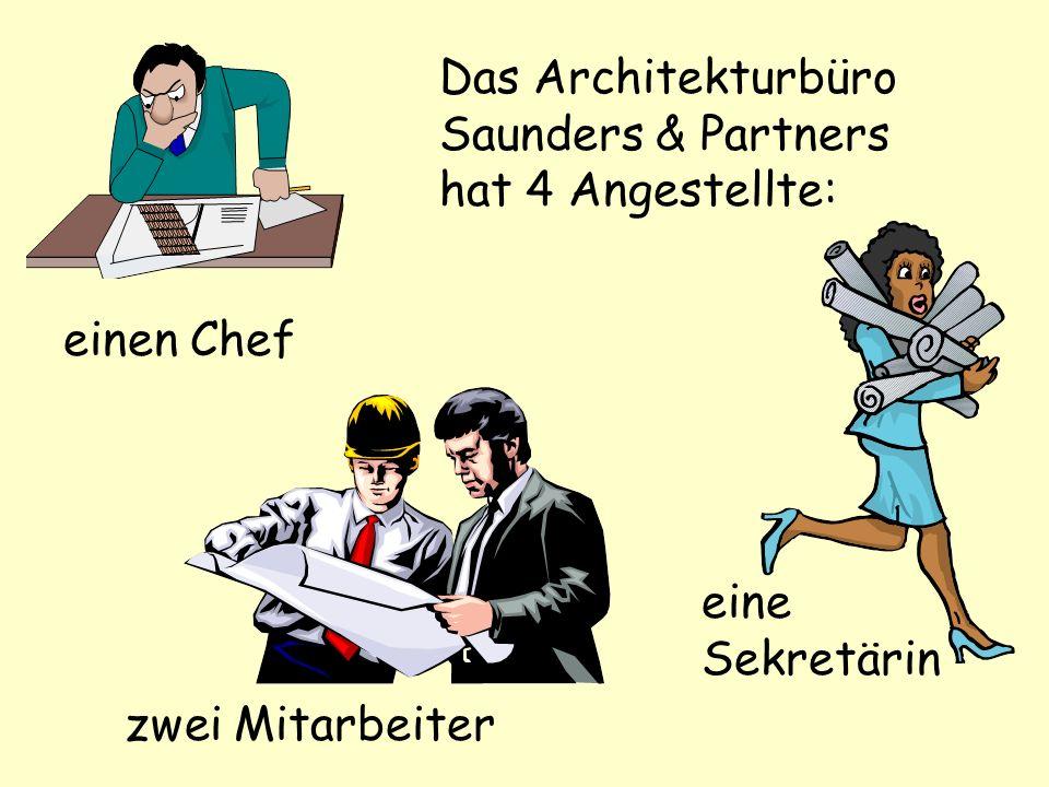 Das Architekturbüro Saunders & Partners hat 4 Angestellte: