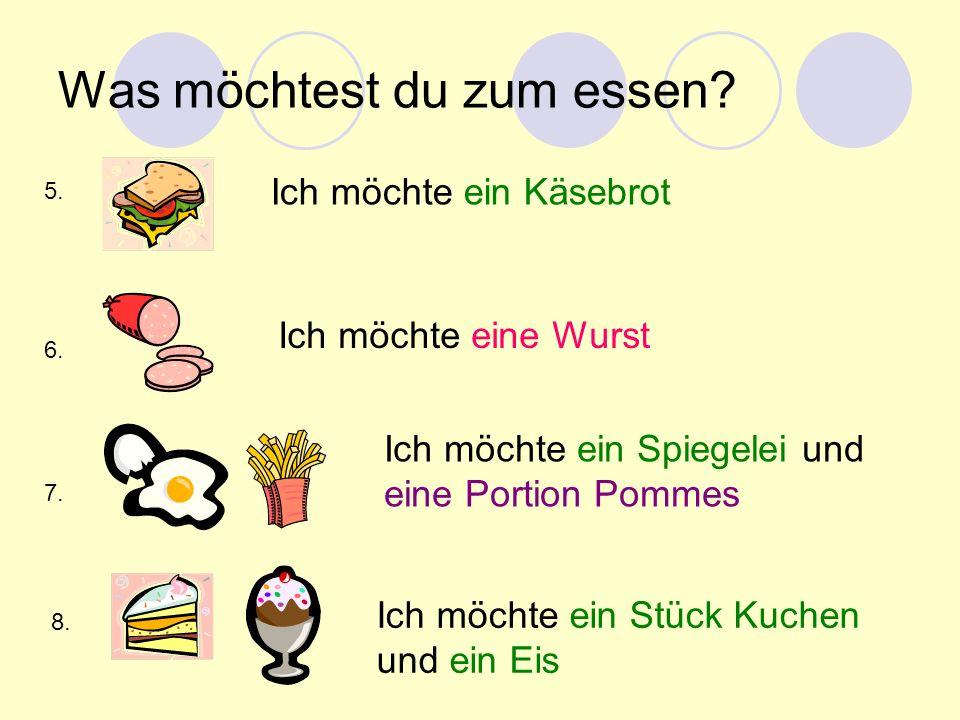 Was möchtest du zum essen