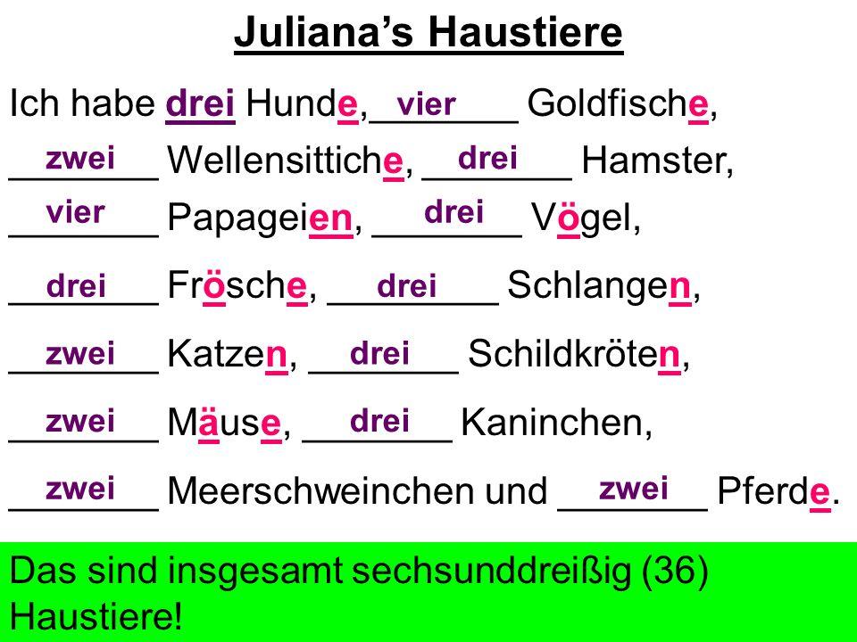 Juliana's Haustiere