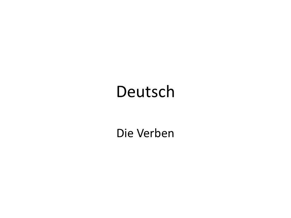 Deutsch Die Verben