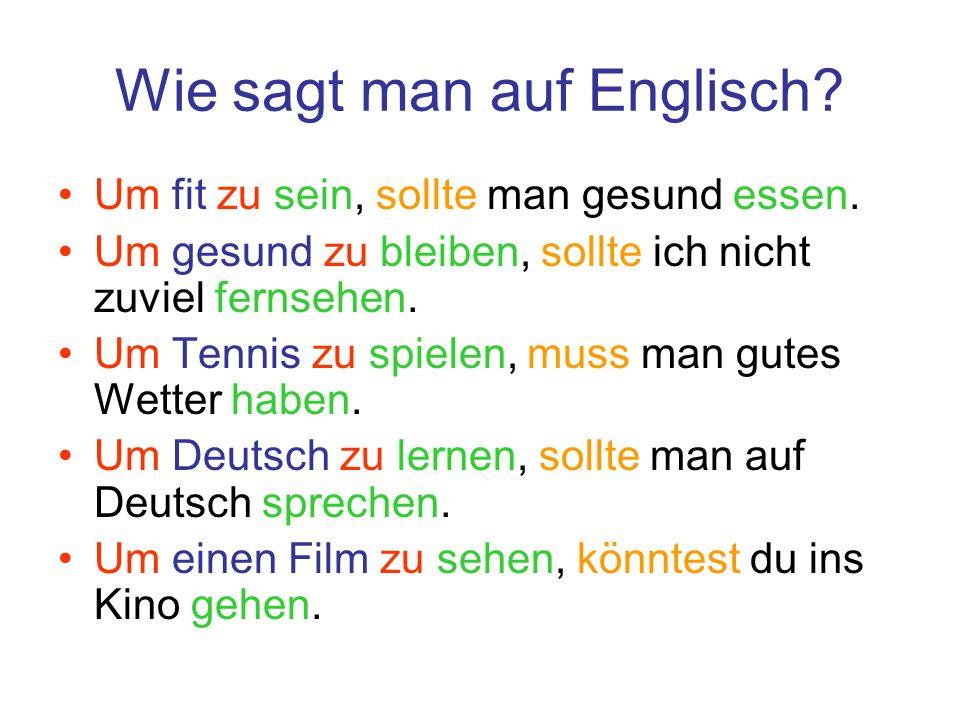 Wie sagt man auf Englisch
