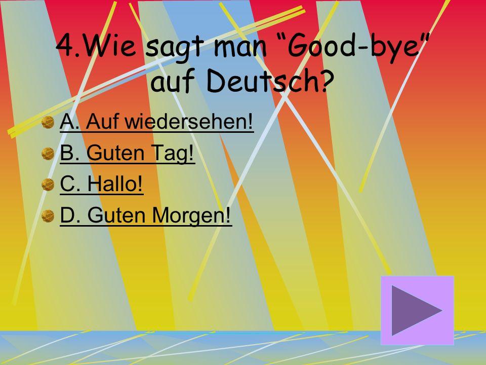 4.Wie sagt man Good-bye auf Deutsch