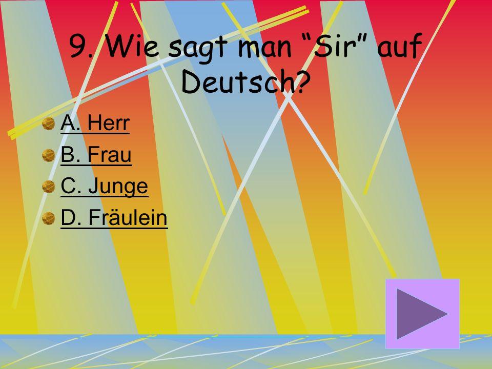 9. Wie sagt man Sir auf Deutsch