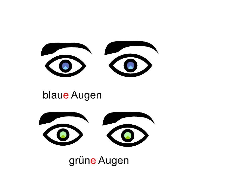 blaue Augen grüne Augen