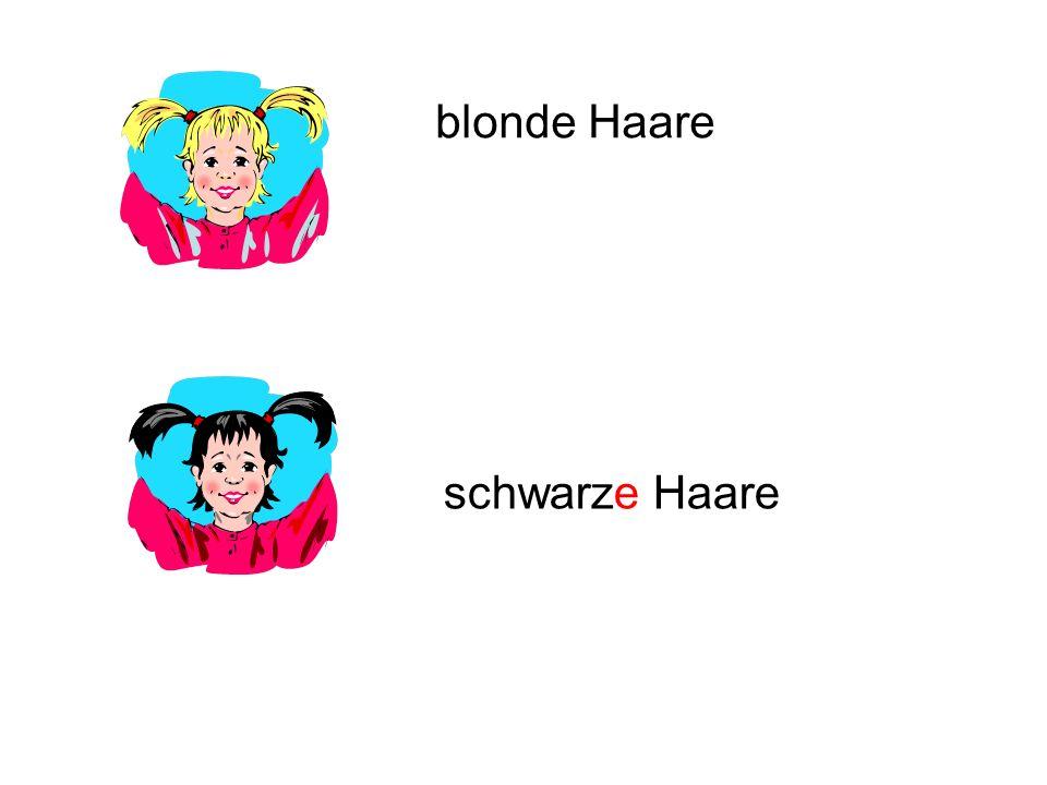 blonde Haare schwarze Haare