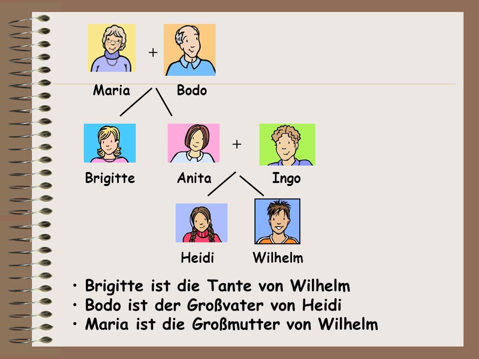 Brigitte ist die Tante von Wilhelm Bodo ist der Großvater von Heidi