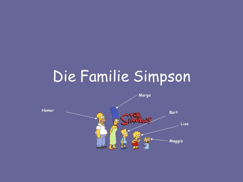 Die Familie Simpson Marge Homer Bart Lisa Maggie