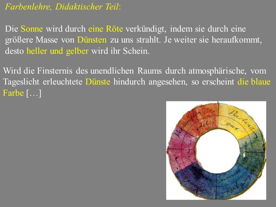 Farbenlehre, Didaktischer Teil: