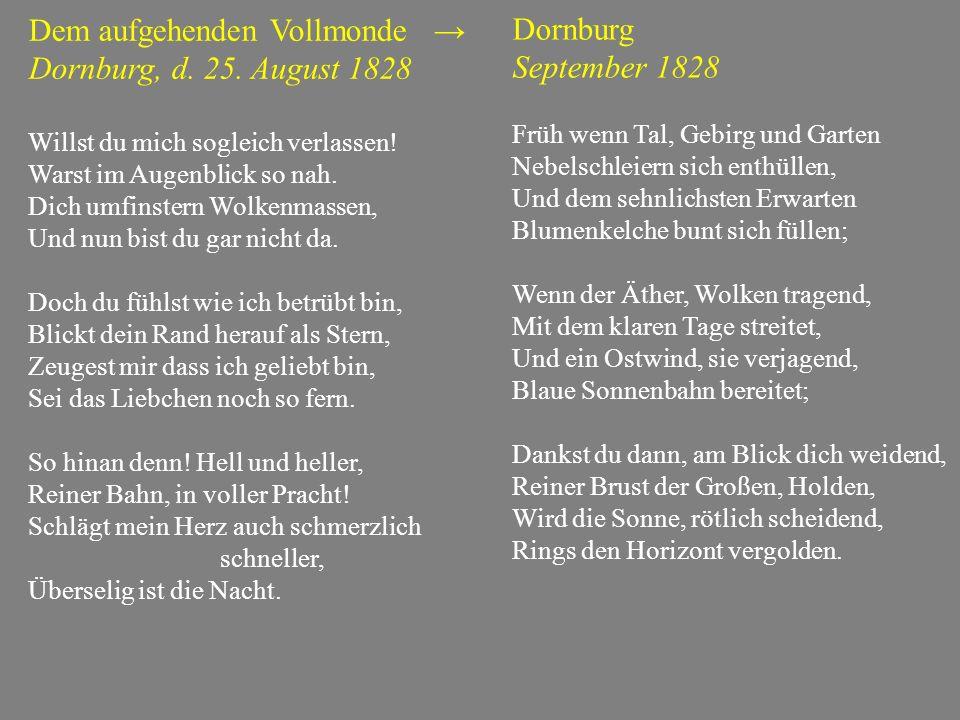 Dem aufgehenden Vollmonde → Dornburg, d. 25. August 1828 Dornburg