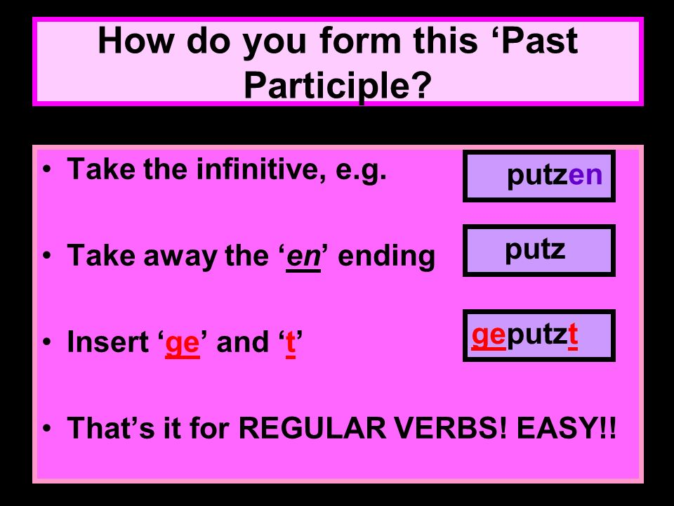 How do you form this 'Past Participle