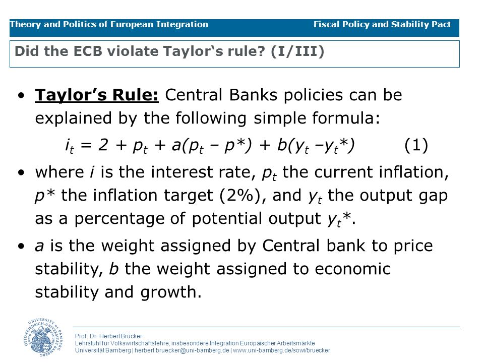 Did the ECB violate Taylor's rule (I/III)