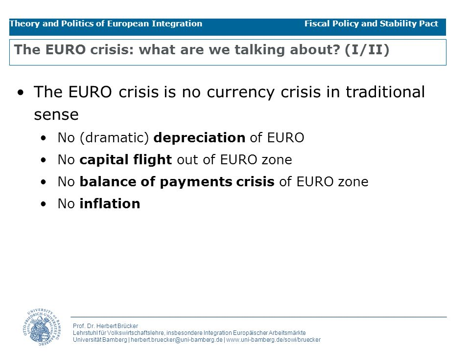 The EURO crisis: what are we talking about (I/II)
