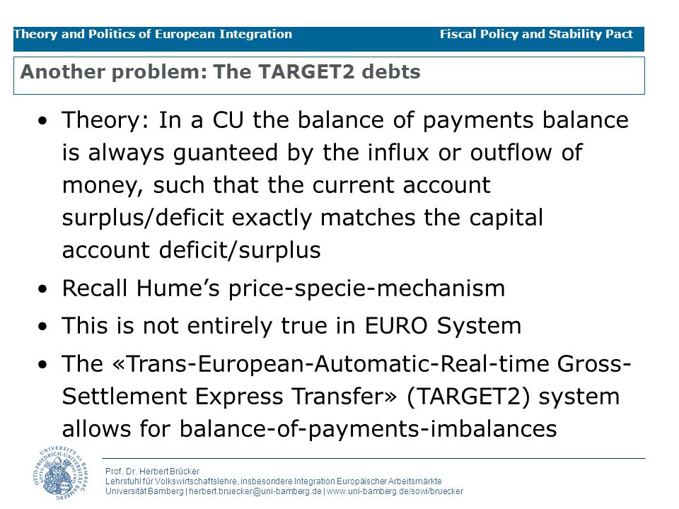 Another problem: The TARGET2 debts