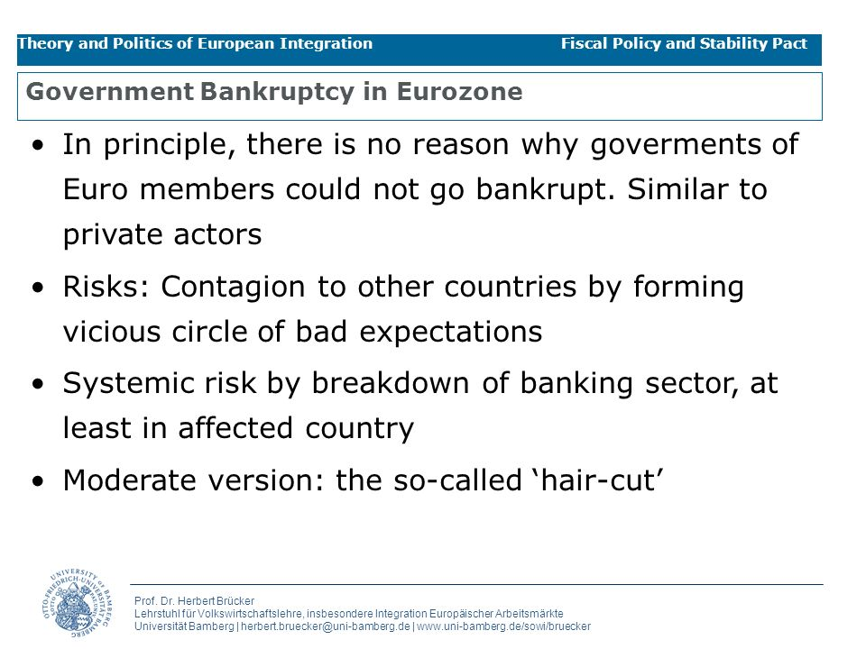 Government Bankruptcy in Eurozone
