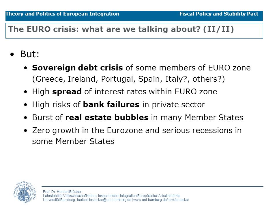 The EURO crisis: what are we talking about (II/II)