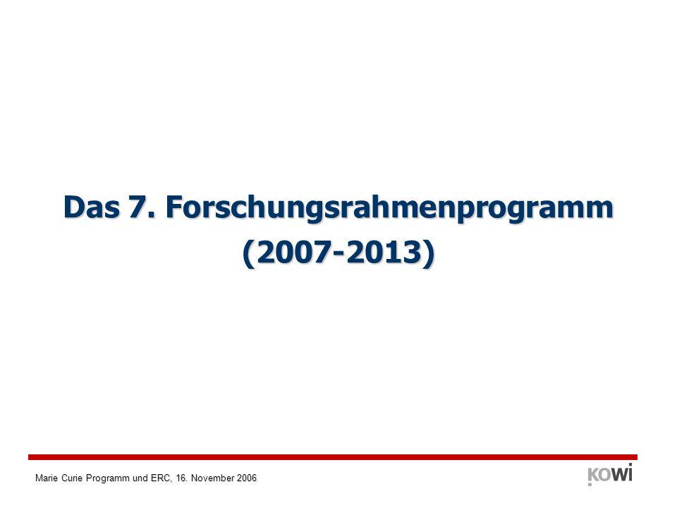 Das 7. Forschungsrahmenprogramm (2007-2013)