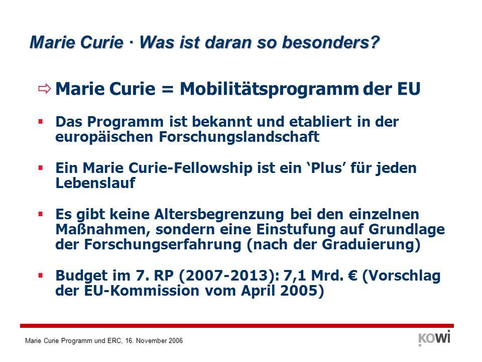 Marie Curie · Was ist daran so besonders