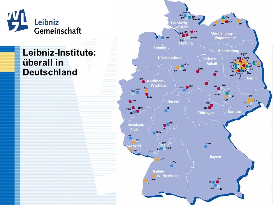 Leibniz-Institute: überall in Deutschland