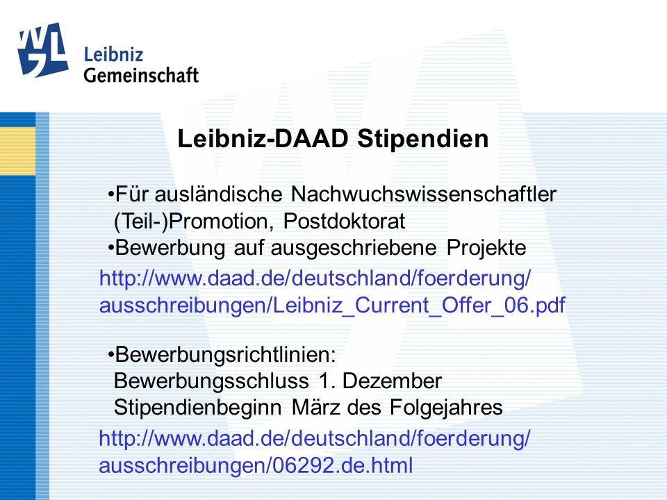 Leibniz-DAAD Stipendien
