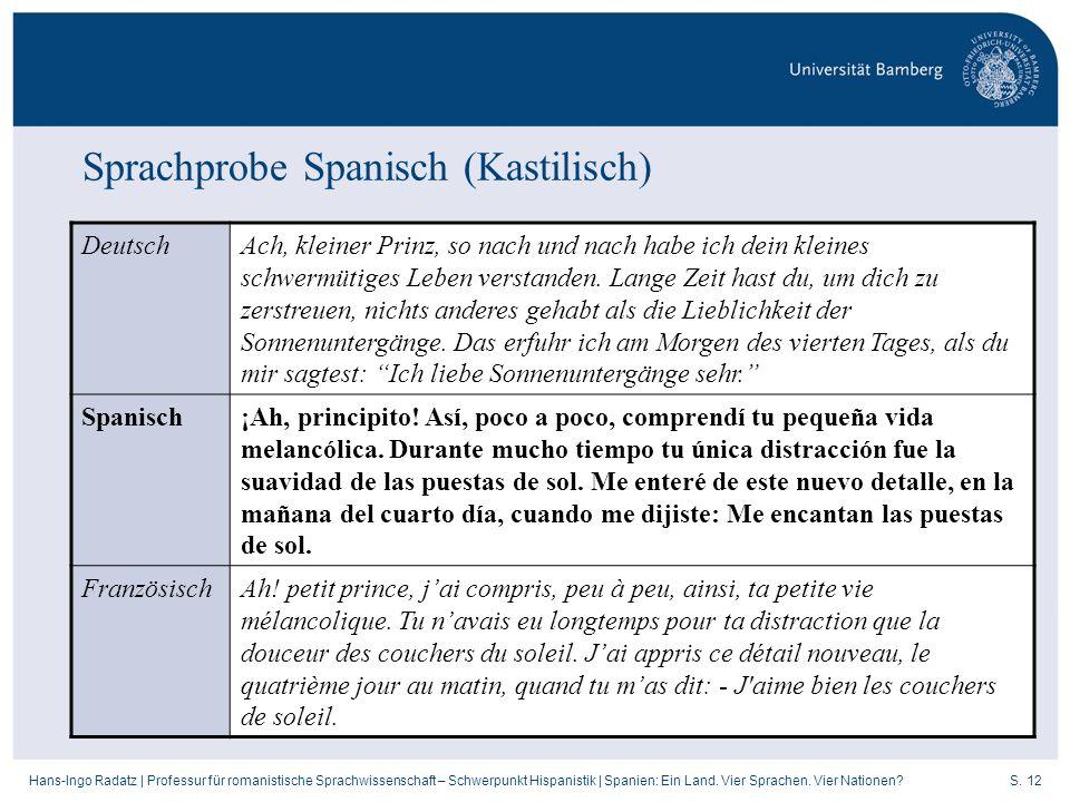 Sprachprobe Spanisch (Kastilisch)