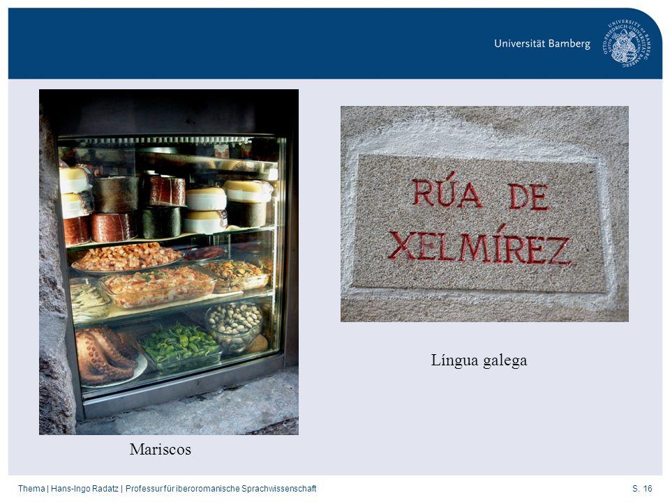 Língua galega Mariscos