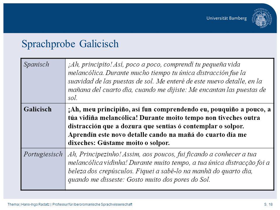 Sprachprobe Galicisch