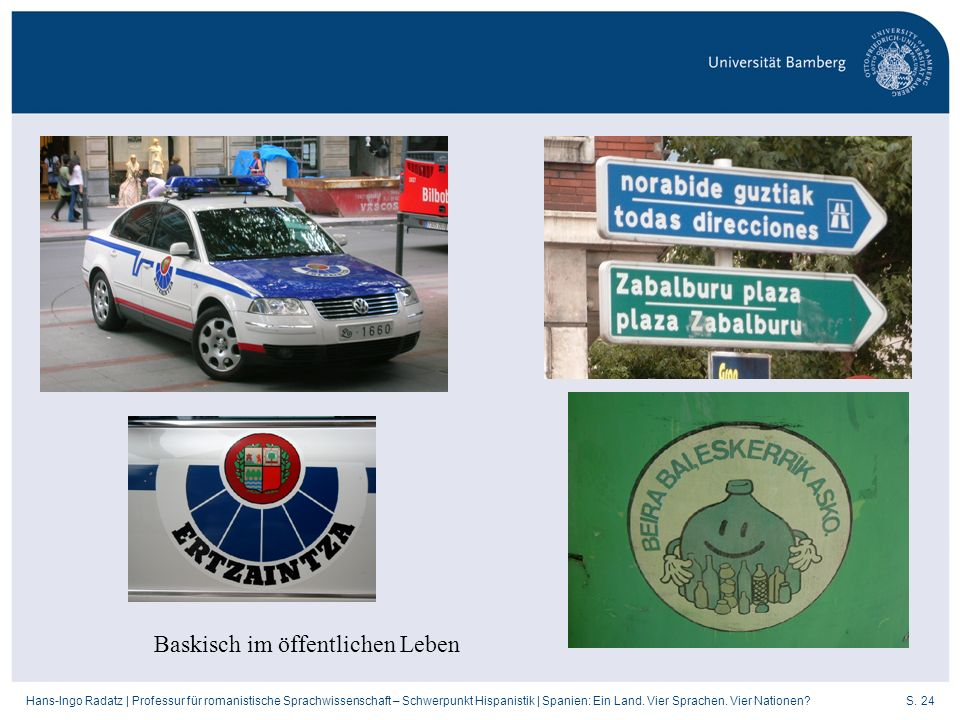 Baskisch im öffentlichen Leben
