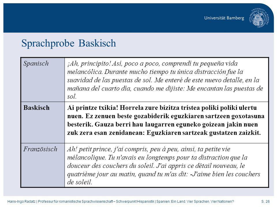 Sprachprobe Baskisch Spanisch