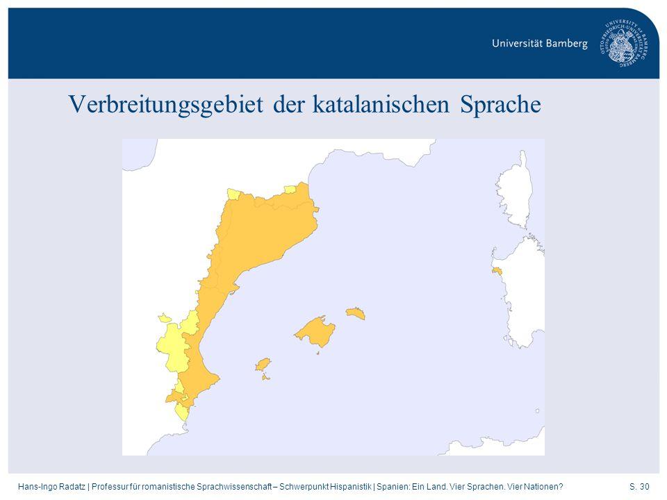 Verbreitungsgebiet der katalanischen Sprache