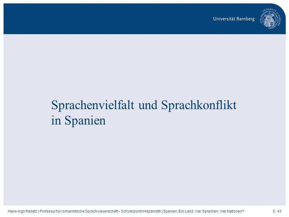 Sprachenvielfalt und Sprachkonflikt in Spanien