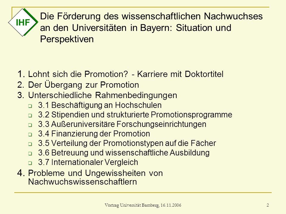 Vortrag Universität Bamberg, 16.11.2006