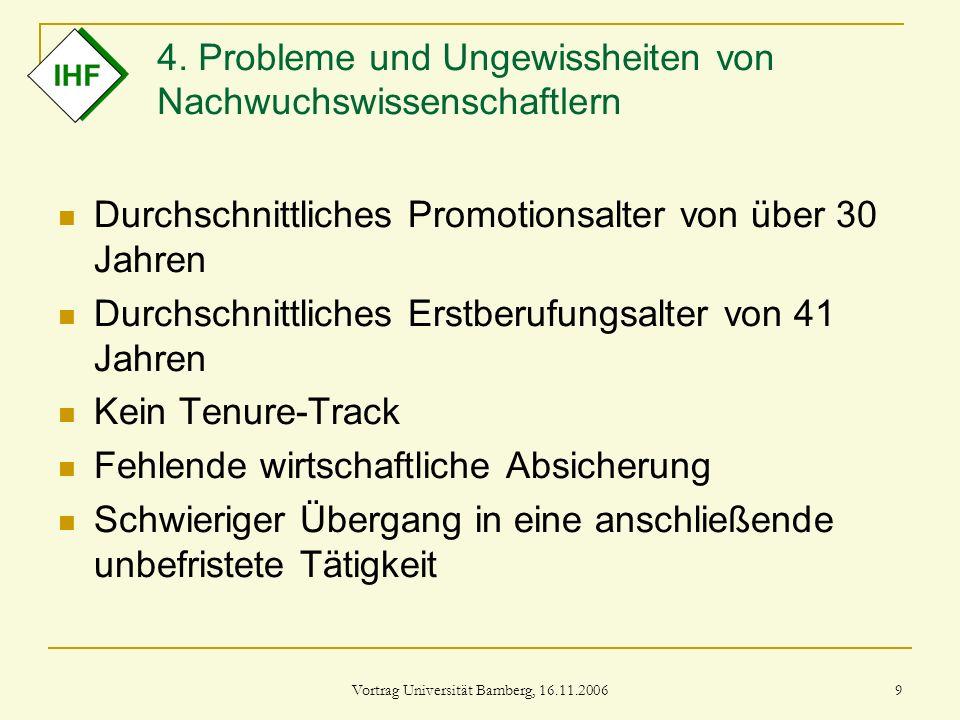 4. Probleme und Ungewissheiten von Nachwuchswissenschaftlern