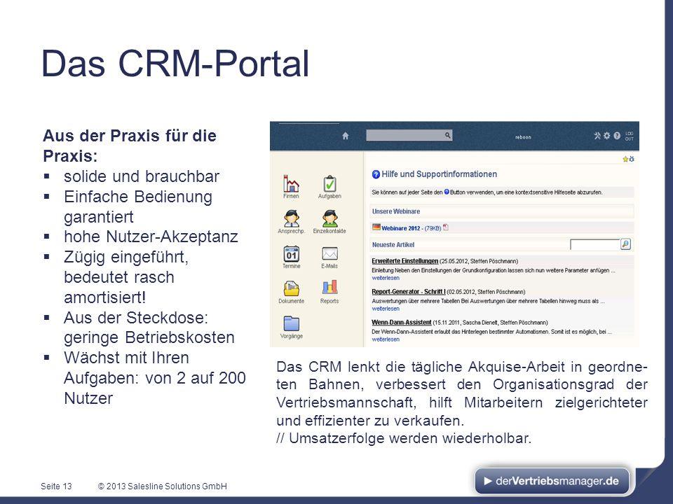 Das CRM-Portal Aus der Praxis für die Praxis: solide und brauchbar