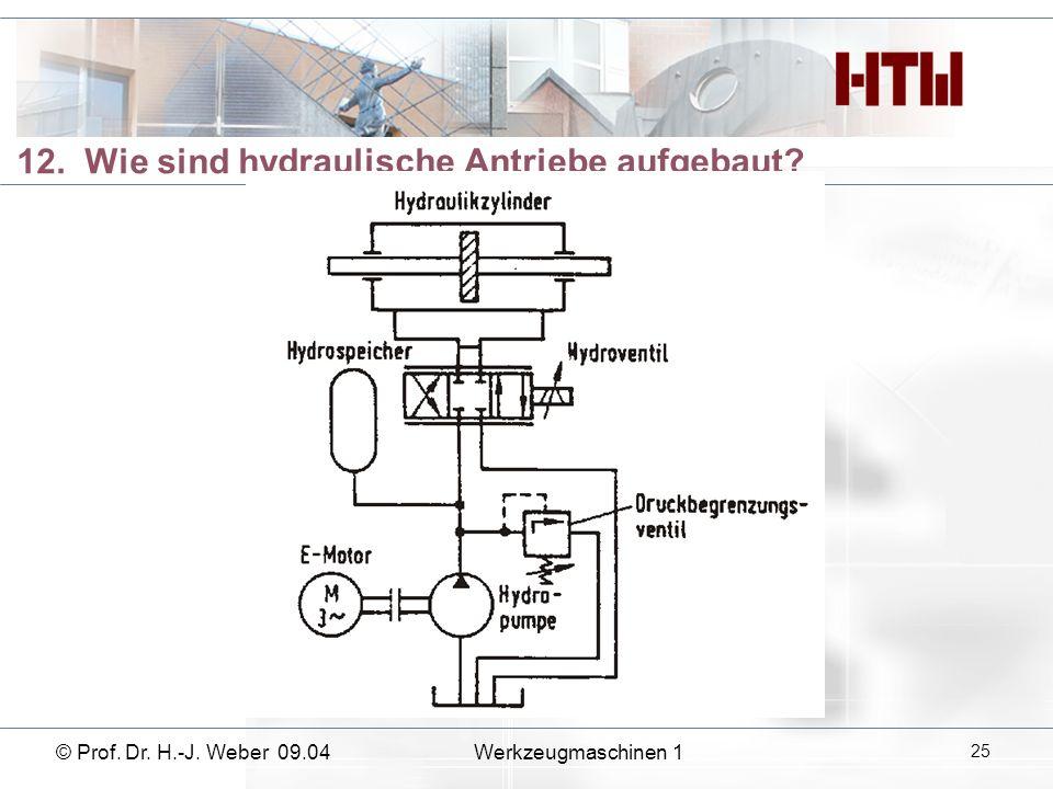 12. Wie sind hydraulische Antriebe aufgebaut