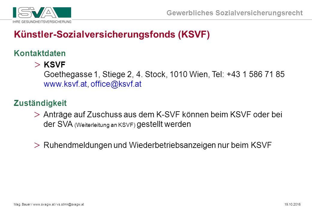 Künstler-Sozialversicherungsfonds (KSVF)