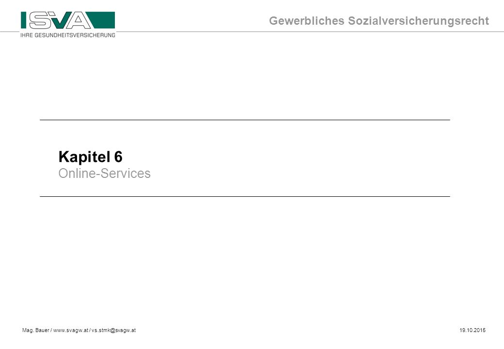 Kapitel 6 Online-Services