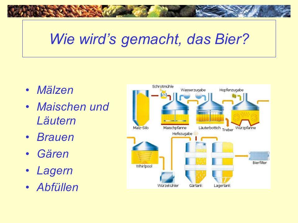 Wie wird's gemacht, das Bier