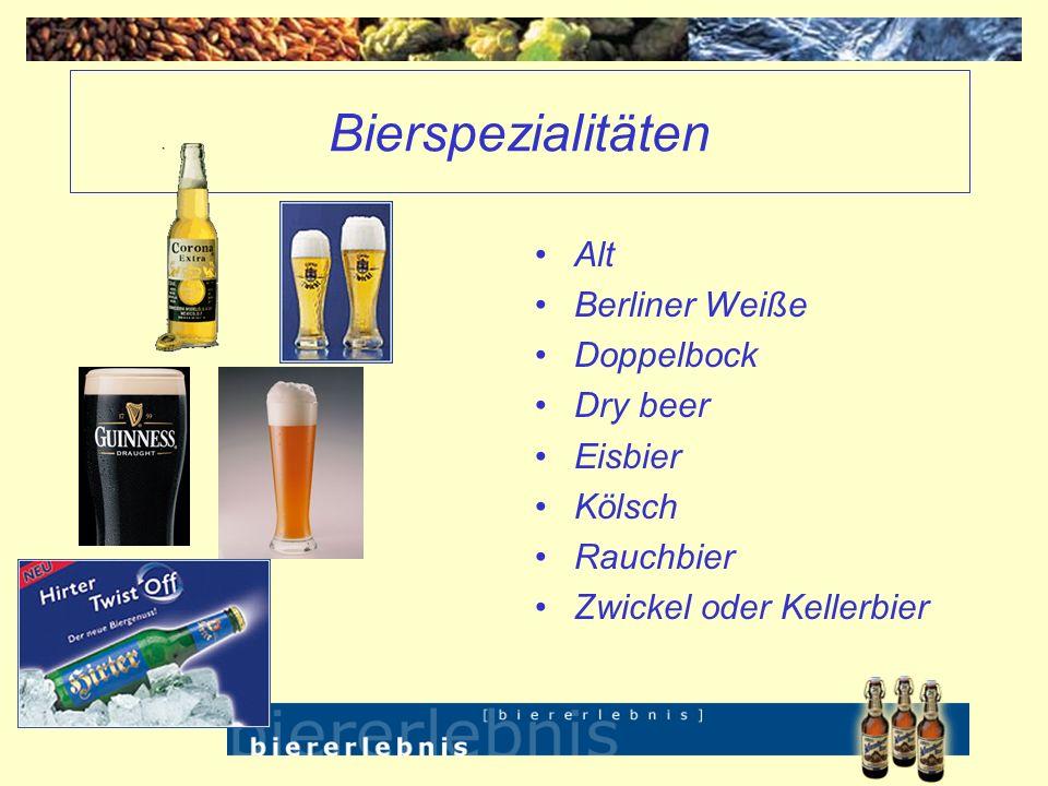 Bierspezialitäten Alt Berliner Weiße Doppelbock Dry beer Eisbier