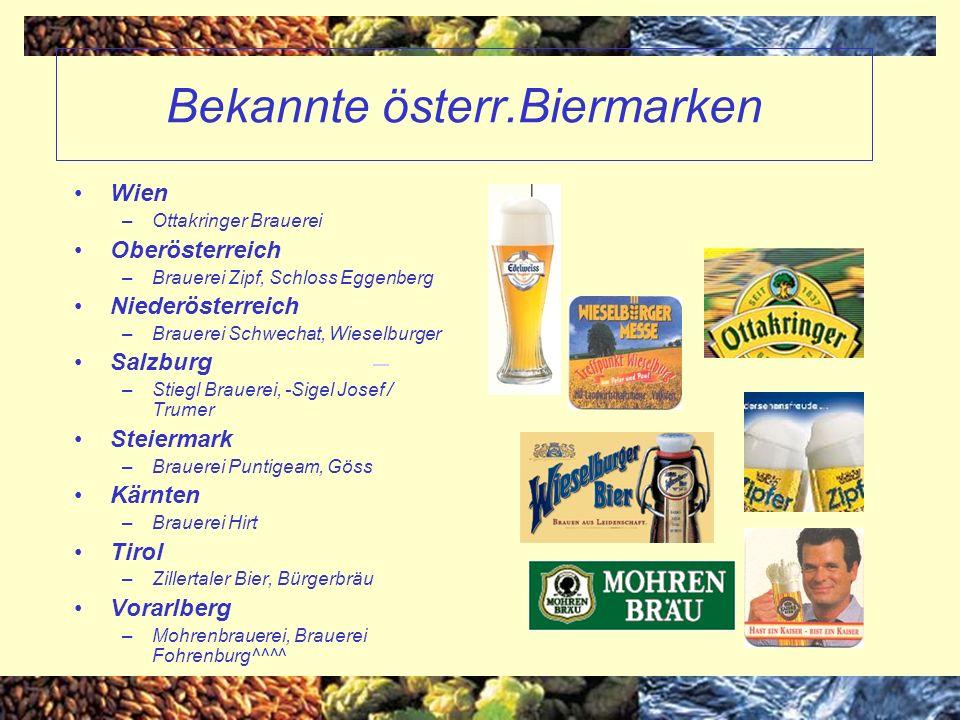 Bekannte österr.Biermarken