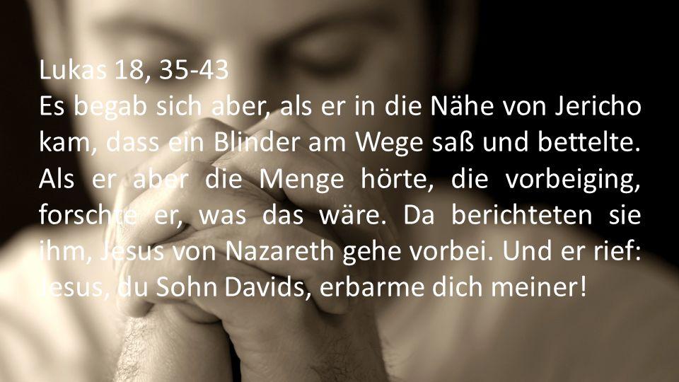 Lukas 18, 35-43