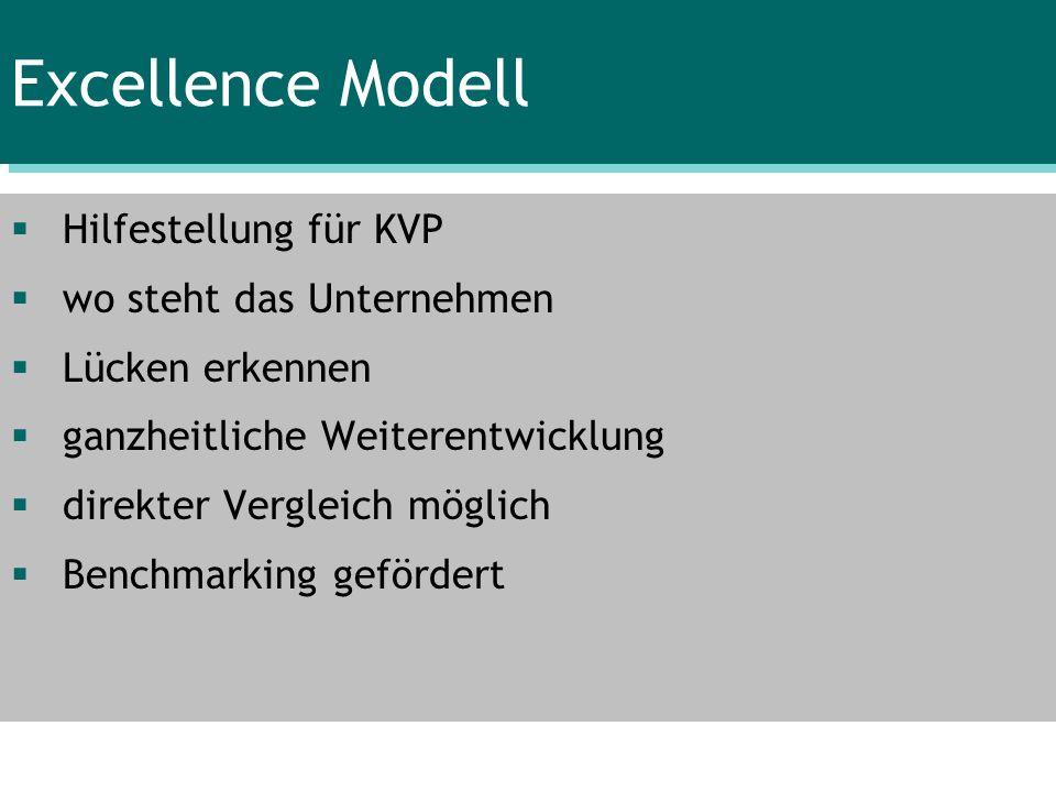 Excellence Modell Hilfestellung für KVP wo steht das Unternehmen