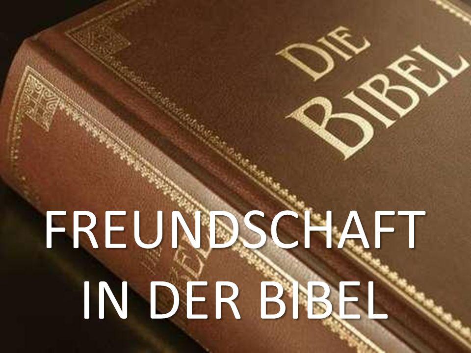 FREUNDSCHAFT IN DER BIBEL