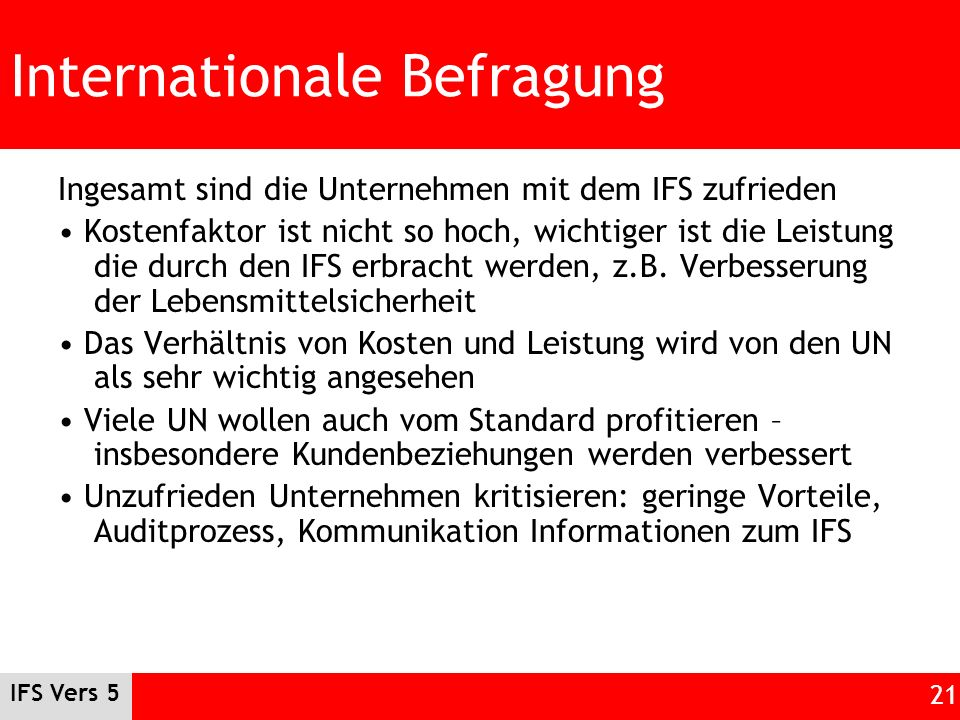 Internationale Befragung