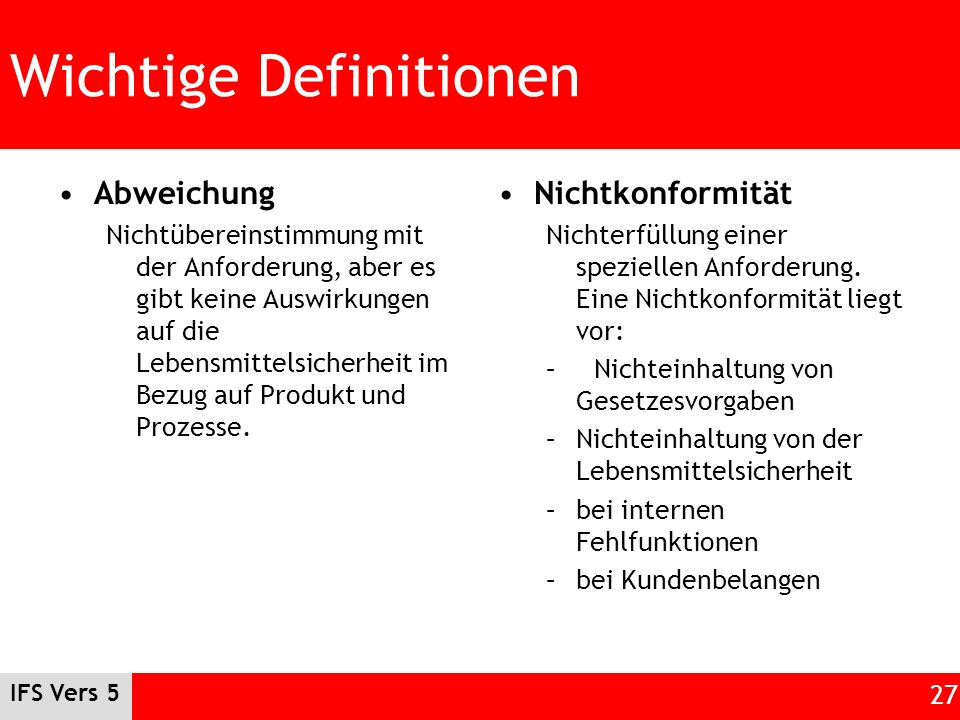 Wichtige Definitionen